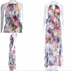 Maggy London maxi floral dress size 12